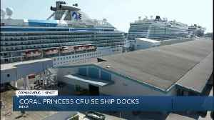 Another cruise ship with virus victims docking in Miami [Video]