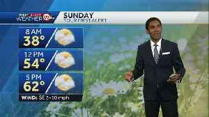 Few more clouds Sunday, high in low 60s [Video]