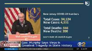 Coronavirus Update: Gov. Phil Murphy Says Pandemic 'Is Writing One Of The Greatest Tragedies In Our State's History' [Video]