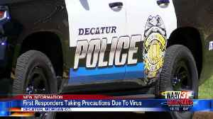 First responders taking precautions due to virus [Video]