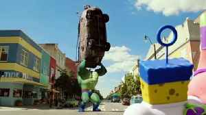 The SpongeBob Movie Sponge Out of Water  Clip - Plank-TON vs. Burger Beard [Video]