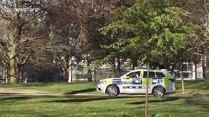Police try to enforce social distancing in Hyde Park in London during coronavirus lockdown [Video]