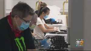Volunteers Assemble Face Masks For Medical Workers [Video]