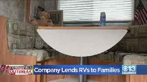 Company Lends RVs To Families [Video]