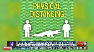 Health officials provide visual to display proper social distancing [Video]