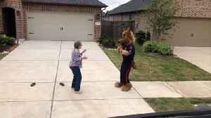 Dancing Cop In Costume Brings Cheer To Senior Community Amid Coronavirus Lockdown [Video]