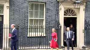 Matt Hancock and Dominic Raab depart Downing Street