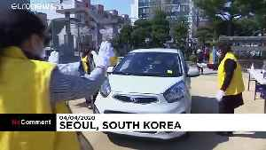 South Korea church holds drive-in service amid new outbreak [Video]