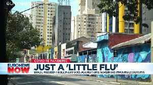 'A little flu': Brazil's Bolsonaro playing down coronavirus crisis [Video]