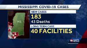 183 new cases of COVID-19 in Mississippi [Video]