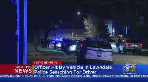Officer Hit By Vehicle In Lawndale; Police Searching For Driver [Video]
