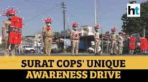 Watch: Surat cops' unique awareness campaign on COVID-19 [Video]