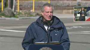 Mayor Bill de Blasio Speaks At Brooklyn Navy Yard [Video]