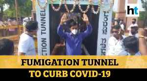 COVID-19: Fumigation tunnel set up in Haryana and Karnataka to curb spread of virus [Video]