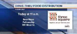 Drive-thru food distribution in Pahrump [Video]