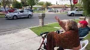 People Arrive Grandma's House in Cars to Show Love Amid Coronavirus Lockdown [Video]