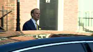 Raab arrives for first day standing in for PM