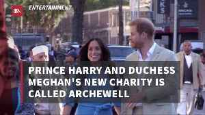 Prince Harry and Duchess Meghan Reveal Charity [Video]
