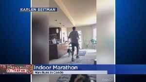 Colorado Man Shares Positivity By Running Marathon In His Condo [Video]