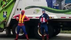 """Superhero """"grime"""" fighters help clean up the streets [Video]"""