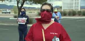 Las Vegas healthcare workers address PPE shortage [Video]