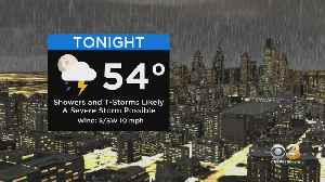 Philadelphia Weather Update: Chance For Severe T-Storm [Video]