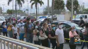 Social Distancing Nearly Non-Existent As People Lined Up For Unemployment Applications In Hialeah [Video]