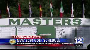 Three of golf's majors rescheduled, one is canceled
