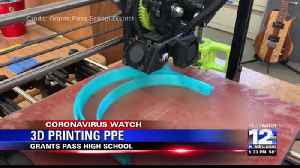 Grants Pass High School 3D printing PPE [Video]