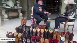 Arnold Schwarzenegger Recruits Daughter To Help Polish His Cowboy Boots Amid Lockdown [Video]