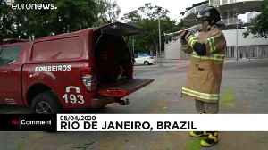 Brazil firefighter lifts spirits through music during the lockdown