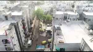 Gamblers flee after spotting police drone amid coronavirus lockdown in India [Video]