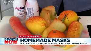 Coronavirus: How to make your own face mask – no sewing required [Video]