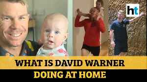 What Is David Warner Doing At Home [Video]