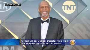 Kareem Abdul-Jabbar Donates 900 Pairs Of Safety Goggles To UCLA Health [Video]