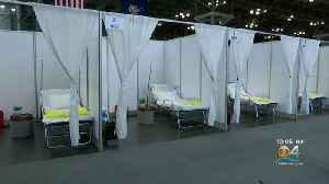 Field Hospital At MIami Beach Convention Center [Video]