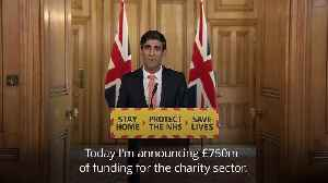 Rishi Sunak announces financial plan for UK charities