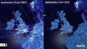 Video Shows Air Traffic Before And After Coronavirus Outbreak [Video]
