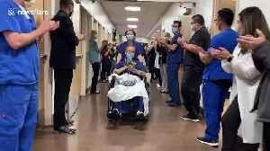 Older patient heroically leaves Las Vegas hospital after beating coronavirus [Video]