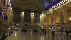 Stunningly empty Grand Central Terminal in NYC amid coronavirus outbreak [Video]