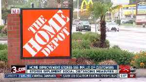 Home improvement stores see influx of customers [Video]