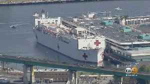 USNS Mercy Crew Member Tests Positive For COVID-19 [Video]