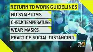 Trump Administration Issues New Guidelines For Essential Workers Diagnosed With COVID-19 To Return To Work [Video]