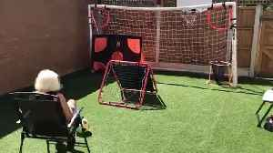 Supergran goes viral after jaw-dropping footballing trick shots [Video]