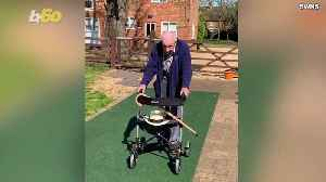 This WW2 Vet Has Pledged to Walk 100 Lengths of His Backyard by His 100th Birthday for Charity [Video]