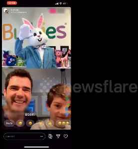 Kids meet Easter Bunny virtually while social distancing [Video]