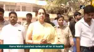 Hema Malini dismisses rumours of ill health, says she's 'absolutely fine' [Video]