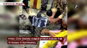 Hindus protest outside Pak Embassy in Kathmandu over temple construction in Islamabad [Video]