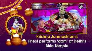 Krishna Janmashtami: Priest performs 'aarti' at Delhi's Birla Temple [Video]