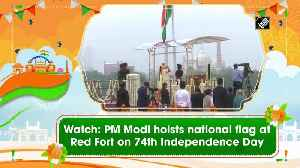 Watch: PM Modi hoists national flag at Red Fort on 74th Independence Day [Video]